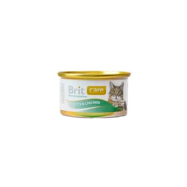 BRIT CARE Kitten Pollo Alimento para Gatito Cachorro Lata x 80g